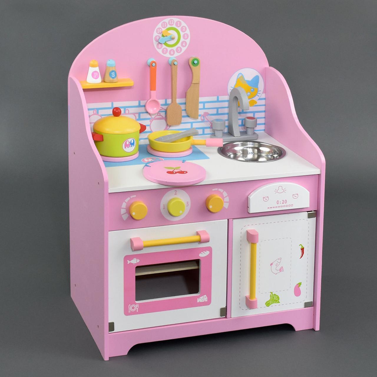 Кухня детская деревянная высокая 63 см С 23056 ***