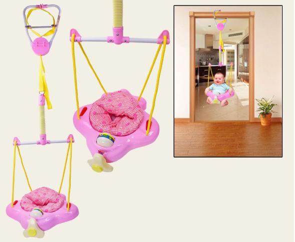Прыгунки -качель  A-BF188 розовые ***
