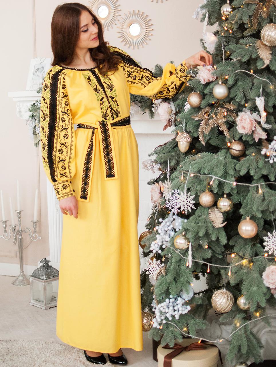 Вишите плаття Сонячне (машинна вишивка dc4e13e4ae7fe