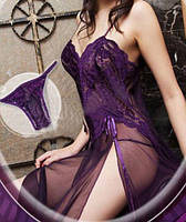 Шифоновая женская ночная сорочка, пеньюар, разные цвета и размеры., фото 1