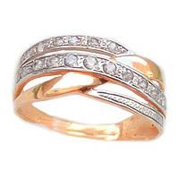 Золотое кольцо с фианитом 1-595