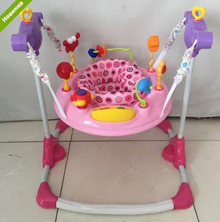 Детские прыгунки музыкальные BC01-8 розовые ***