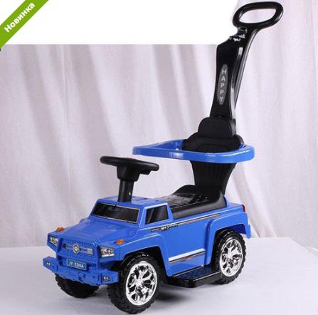 Машинка Каталка  музыкальная 2 в 1 Mercedes M 3597A-4 синяя ***