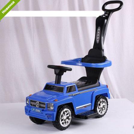 Машинка Каталка  музыкальная 2 в 1 Mercedes AMG M 3597B-4 синяя ***