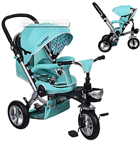 Велосипед-коляска с поворотным сиденьем, надувные колеса M AL3645A-14,мятный ***