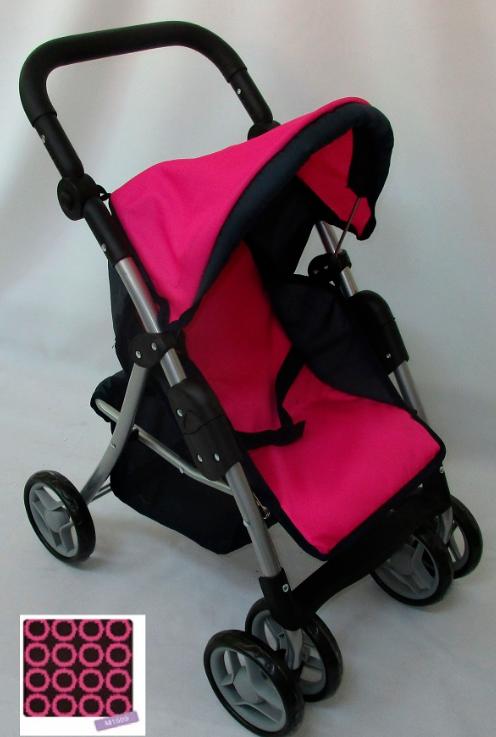 Детская коляска для кукол MELOGO 9352 в горошек ***