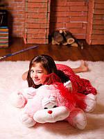 Большой и мягкий подарок - Котик Шалун, розовый