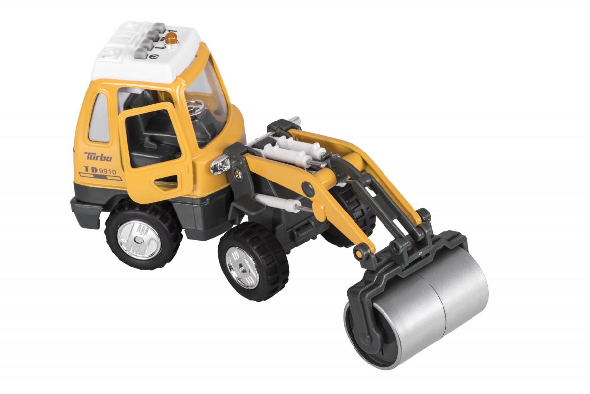 Реалистичная детская металлическая машинка Goki Каток 12107G-3
