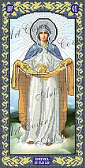 АІ-0001. Схема для вишивки бісером ікона Покрови Пресвятої Богородиці