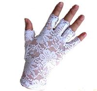 Перчатки без пальчиков ажурные