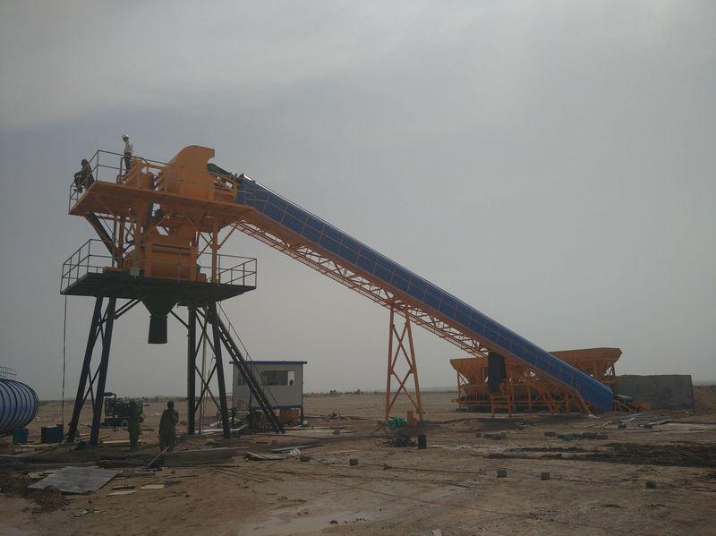 Стационарный бетонный завод HZS 75 CHANGLI