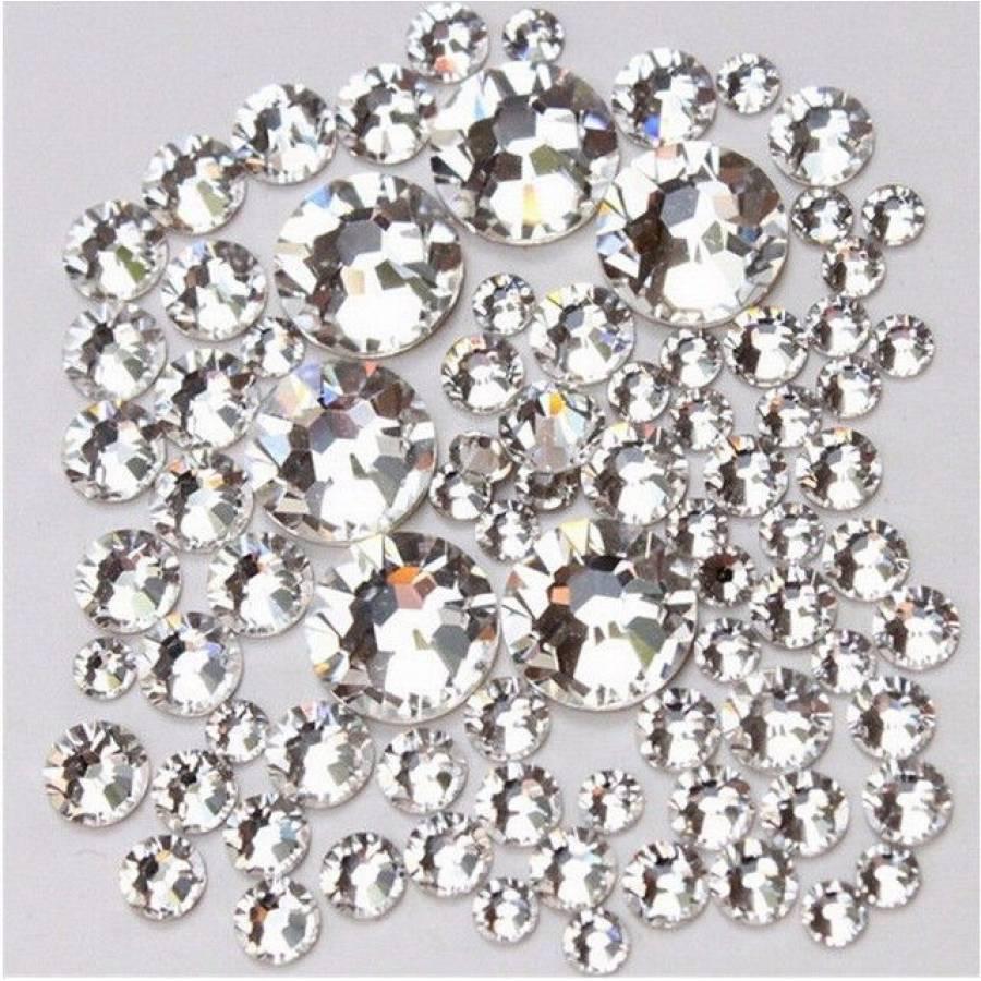 Стразы кристалл,  стекло  Crystal Clear, МИКС РАЗМЕРЫ,   1440шт. Аналог стразSwarovski , ЕСТЬ ОПТ!