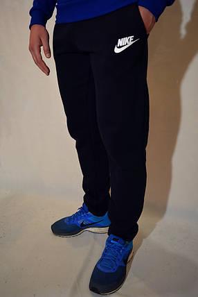 Размеры:48,50 - Утепленные спортивные штаны Nike / темно-синие, фото 2