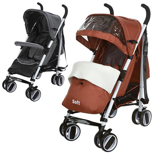 Детская коляска трость SOFT M 3432-1 оранжевая***