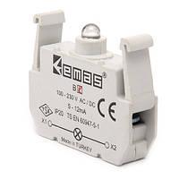 Блок-контакт подсветки с жёлтым светодиодом 100-250 В AC