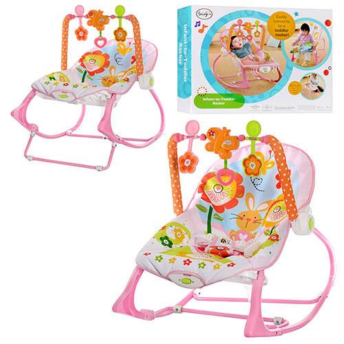Шезлонг-кресло-качалка Розовый кролик, Bunny BB 4544 ***