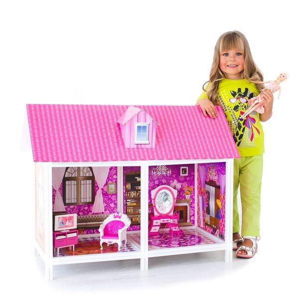 Кукольный домик две комнаты,мебель+кукла 66882 ***