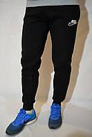 Чорні спортивні штани на манжетах - Nike - зимові (з начосом)