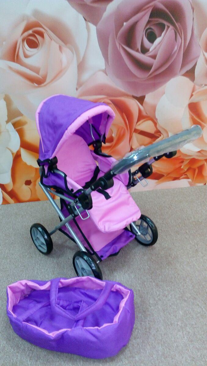 Коляска для куклы 9346 Melogo от 2 лет розовая-фиолетовая ***