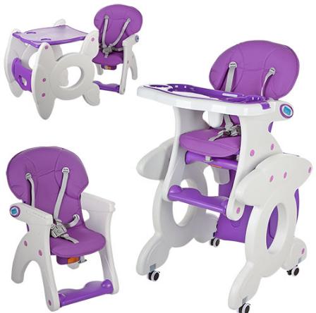 Стульчик трансформер (со столиком) M 3268-9, фиолетовый ***