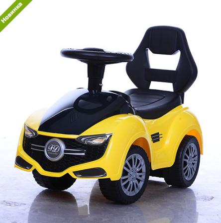 Детская каталка-толокар Bambi FD-6806-6 желтая  ***