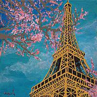 """Схема для вышивки бисером """"Весна в Париже"""""""