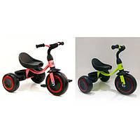 Детский трехколесный велосипед M 3649-M-1 пурпурный, лимон