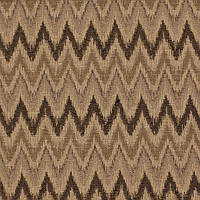 Жаккардовая ткань для штор и декора в зигзаг темно-коричневая FREMONT-3597