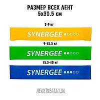 Комплект ленточных эспандеров Mini Band Synergee (2-18 кг, 1-3 уровень)