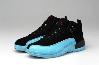 Кроссовки женские JORDAN 12 RETRO Black/Blue, фото 2
