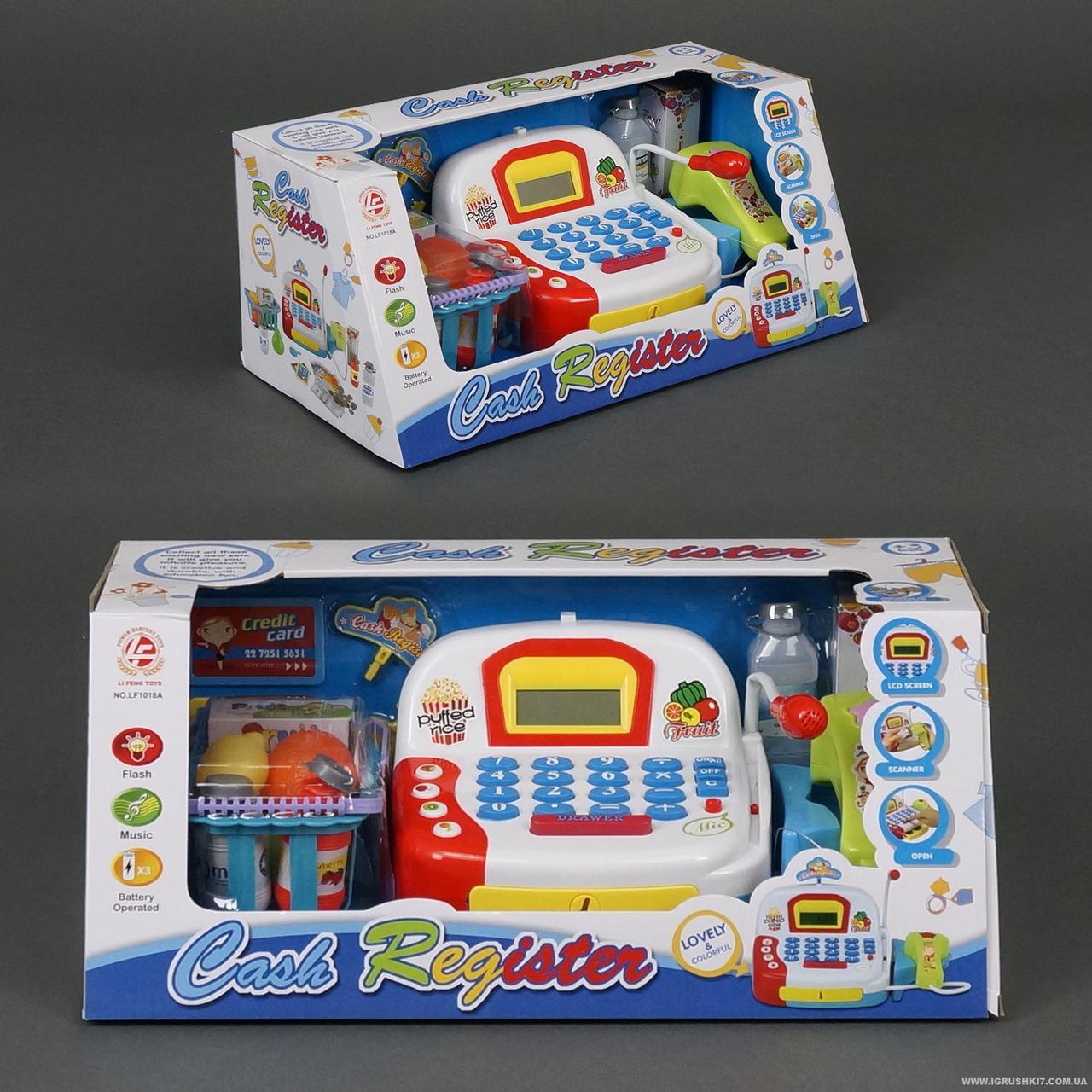 Детский кассовый аппарат с микрофоном и светом LF 1018 A ***