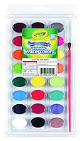 Набор для рисования Crayola 24 Ct Washable Watercolors, смываемые краски 24 шт и кисточка! США!