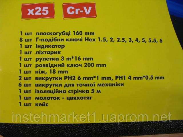 Профессиональный набор инструментов СТАЛЬ 25 ед (арт.40016) в интернет-магазине
