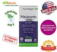Natrol, Мелатонин для спокойного сна, максимальное действие, 10 мг, 60 таблеток, купить, цена, отзывы