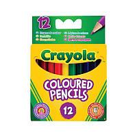 Карандаши цветные Crayola 12 штук, короткие, крайола