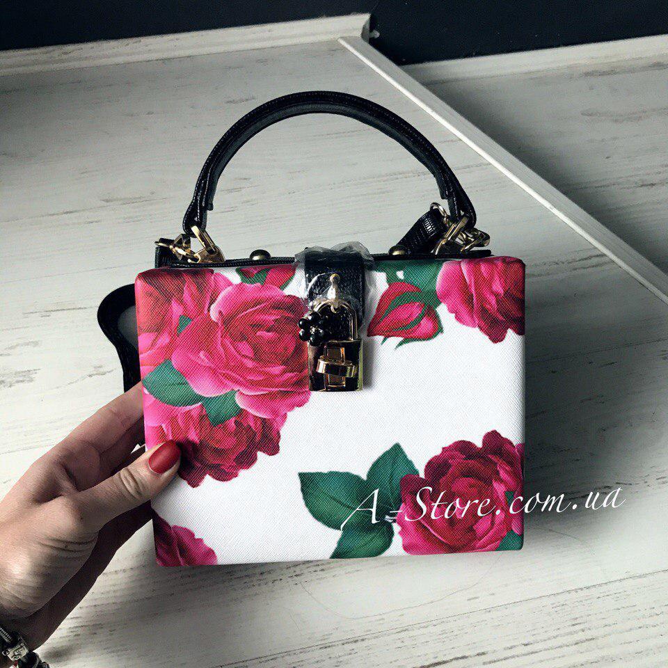 ceb693061fc1 Шикарная сумка в стиле D&G в цветочный принт , цена 790 грн., купить ...