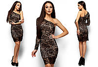 Элегантное платья на одно плечо
