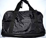 Большая черная спортивная дорожная сумка Адидас ХХL с расширением Трансформер 60*30 (60*44) см, фото 3