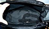 Большая черная спортивная дорожная сумка Найк ХХL с расширением Трансформер 60*30 (60*44) см, фото 5