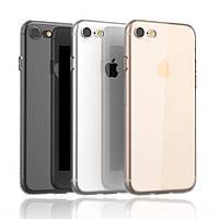 Защитный силиконовый чехол для iPhone 7 / iPhone 8 прозрачный 4,7 дюйма, фото 1