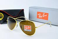 Солнцезащитные очки Rb коричневые в золоте, фото 1