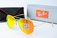 Солнцезащитные очки Rb оранжевые в золоте, фото 1