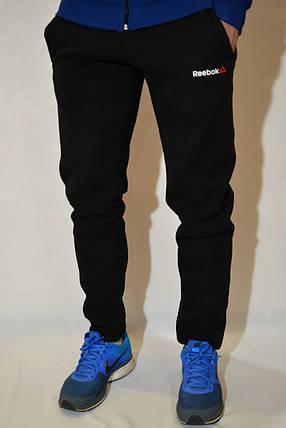 Спортивні штани Reebok - зимові (з начосом) - чорні, фото 2