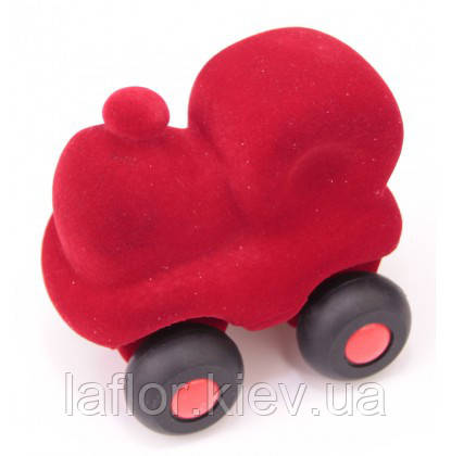 Іграшка з каучуку Rubbabu Паровозик червоний