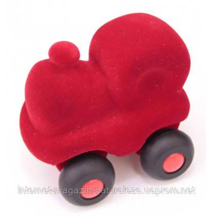 Игрушка  из каучука Rubbabu Паровозик красный