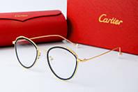 Оправа круглая Cartier золотая с синим, фото 1