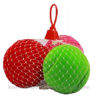 Игрушка  из каучука Rubbabu Три спортивных мячика в сетке, фото 2