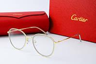 Оправа круглая Cartier золотая с белым, фото 1