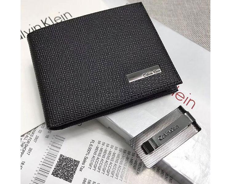 96a5690e1089 Мужское кожаное портмоне в стиле Calvin Klein (4720) SR-785