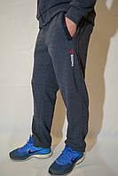Мужский спортивные брюки Reebok (рибок) / трикотажные штаны - джинсовый цвет
